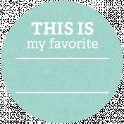 Back To Basics Labels- Favorite Label 15