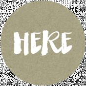 Back To Basics Labels- Here Label 26
