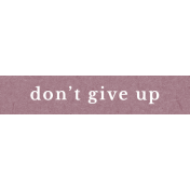 Bad Day Elements- Don't Give Up