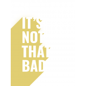 Bad Day - Journaling Card 16