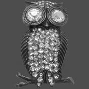 Gray Owl Charm