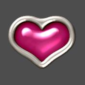 Hot Pink Heart Mini Brad