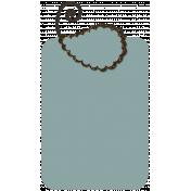 Blue Brown Tag- Shadowed