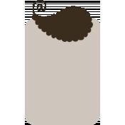 Cream Brown Tag- Shadowed
