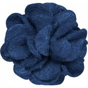 Christmas Day- Blue Felt Flower