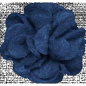 Christmas Day- Blue Felt Flower