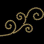 Christmas Day- Glitter Dot Swirl