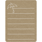 Toolbox Calendar 2- General Doodled Journal Card- Umbrella