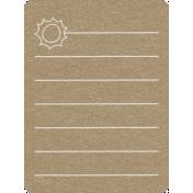 Toolbox Calendar 2- General Doodled Journal Card- Sun
