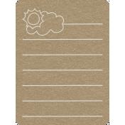 Toolbox Calendar 2- General Doodled Journal Card- Sun and Cloud