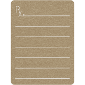 Toolbox Calendar 2- General Doodled Journal Card- Rx