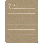 Toolbox Calendar 2- General Doodled Journal Card- Paw Print