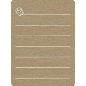 Toolbox Calendar 2- General Doodled Journal Card- Flower 2
