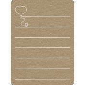 Toolbox Calendar 2- General Doodled Journal Card- Stethoscope