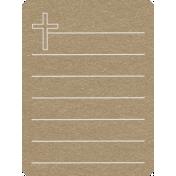 Toolbox Calendar 2- General Doodled Journal Card- Cross
