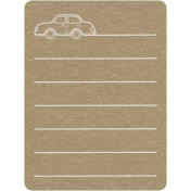 Toolbox Calendar 2- General Doodled Journal Card- Car