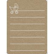 Toolbox Calendar 2- General Doodled Journal Card- Baby Stroller