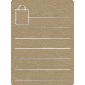 Toolbox Calendar 2- General Doodled Journal Card- Bag