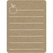 Toolbox Calendar 2- Monthly Doodled Journal Card- Apple