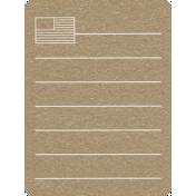Toolbox Calendar 2- Monthly Doodled Journal Card- Flag
