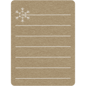 Toolbox Calendar 2- Monthly Doodled Journal Card- Snowflake 3