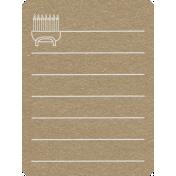 Toolbox Calendar 2- Monthly Doodled Journal Card- Menorah