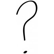 Question Mark Doodle Template