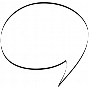 Speech Bubble Doodle Template 005
