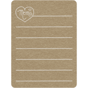 Toolbox Calendar 2- Monthly Doodled Journal Card- Mom