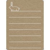 Toolbox Calendar 2- Monthly Doodled Journal Card- Rabbit