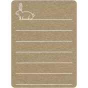 Toolbox Calendar 2- Monthly Doodled Journal Card- Rabbit