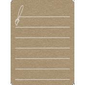 Toolbox Calendar 2- School Doodled Journal Card- Paint Brush