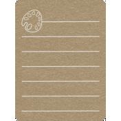Toolbox Calendar 2- School Doodled Journal Card- Paint Palette