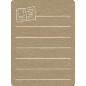 Toolbox Calendar 2- School Doodled Journal Card- Book