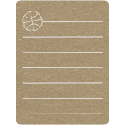 Toolbox Calendar 2- School Doodled Journal Card- Basketball