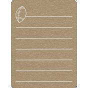 Toolbox Calendar 2- School Doodled Journal Card- Football