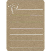 Toolbox Calendar 2- School Doodled Journal Card- Graduation Cap