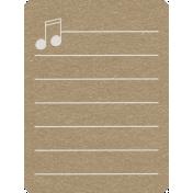 Toolbox Calendar 2- School Doodled Journal Card- Music Notes