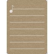Toolbox Calendar 2- School Doodled Journal Card- Music Note