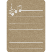 Toolbox Calendar 2- School Doodled Journal Card- Treble Clef and Music Notes