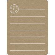 Toolbox Calendar 2- School Doodled Journal Card- Soccer Ball