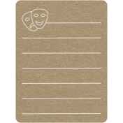 Toolbox Calendar 2- School Doodled Journal Card- Theatre