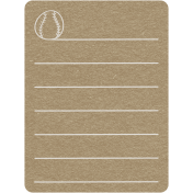 Toolbox Calendar 2- School Doodled Journal Card- Baseball
