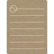 Toolbox Calendar 2- School Doodled Journal Card- Tennis