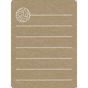 Toolbox Calendar 2- School Doodled Journal Card- Volleyball