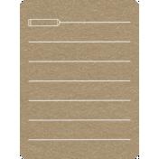 Toolbox Calendar 2- School Doodled Journal Card- Pencil
