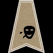 Toolbox Calendar- Theatre Masks Doodle Flag