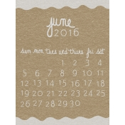 Toolbox Calendar- June Written Journal Card