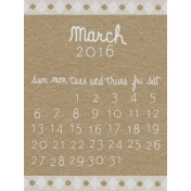 Toolbox Calendar- March Written Journal Card