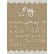Toolbox Calendar- May Written Journal Card